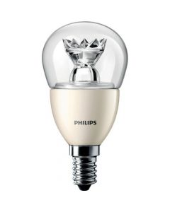 Λαμπτήρας PHILIPS MASTER LED Dimmable luster 6W => 40W 470Lm E14 2700K P48 Clear Lotus