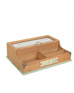BIZZOTTO KOMPART TEA BOX ΞΥΛΙΝΟ NATURAL 42X32,8X14